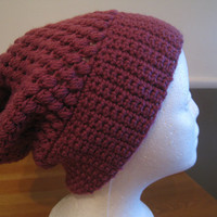 Dusty Purple Slouchy Beanie by RitasKnots on Etsy