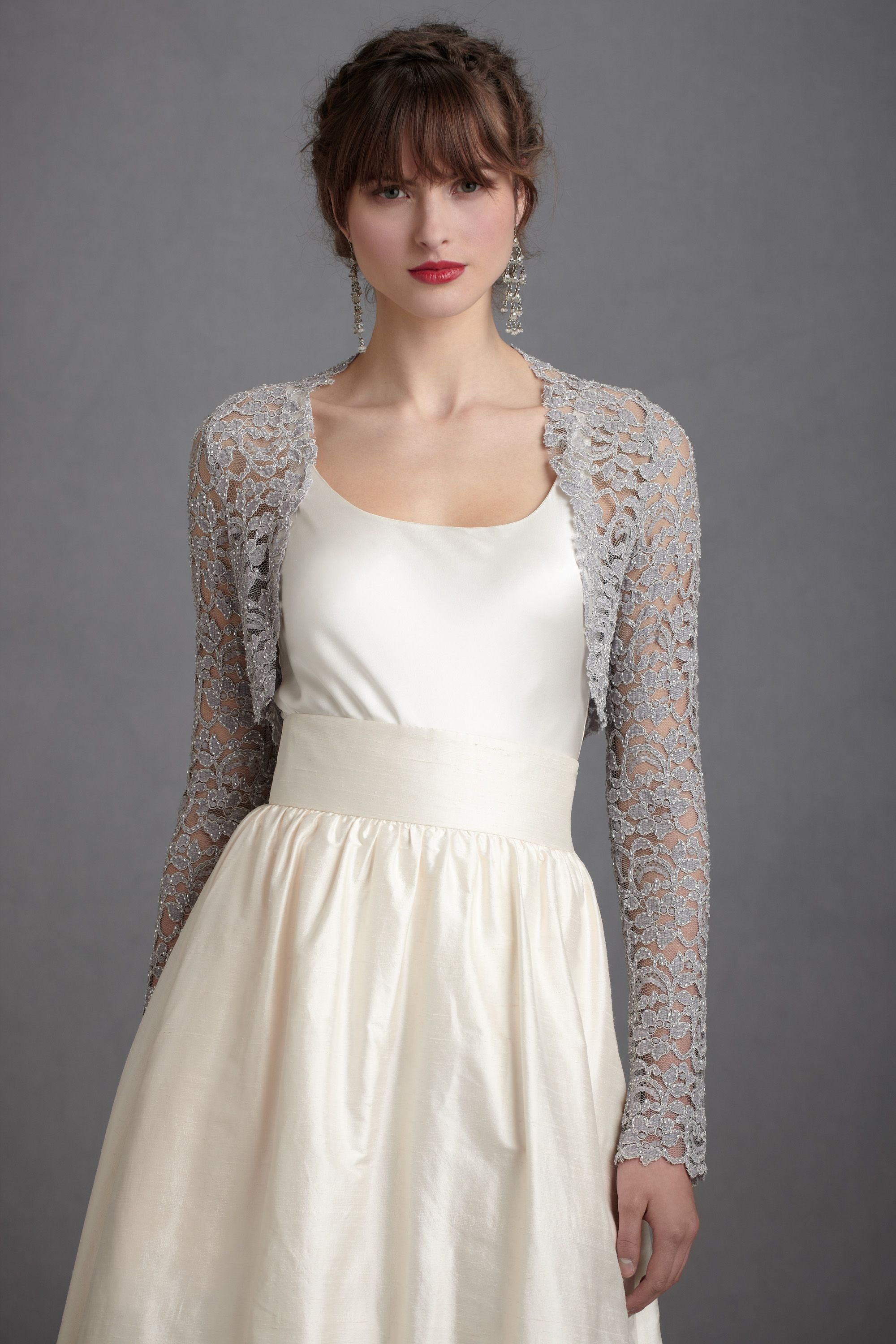 Lady Grey Shrug In Shop Bridesmaids From Bhldn Wedding Dress