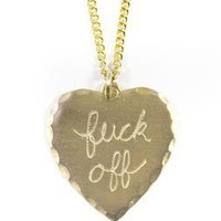F*ck Off Necklace by In God We Trust