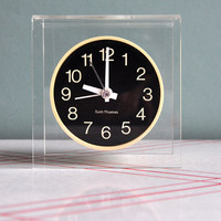 Seth Thomas Modernist Floating Lucite Clock by MisterTrue on Etsy