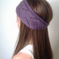 CHLOE - Knit Turban Headband - Headwrap - DUSTY PURPLE - (more colors available)