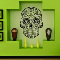 Amazon.com: Sugarskull Version 8 Wall Vinyl Decal Sticker Art Graphic Sticker Sugar Skull: Everything Else