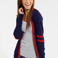 Varsity Tipped Cardigan