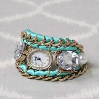 Glittering Mint Watch, Women's Affordable Accessories
