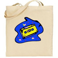 Cassette Tape Natural Tote Bag | Susan&#x27;s Zoo Crew