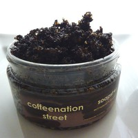 Coffeenation Street - coffee vanilla organic sugar scrub 4oz - beat cellulite the natural way.