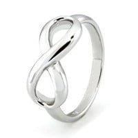 Amazon.com: 925 Sterling Silver Infinity Symbol Wedding Band Ring Size 4 to 12, Limited time offer at special price: Jewelry