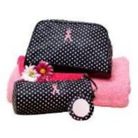 Breast Cancer Awareness 2 Piece Cosmetic Bag Set