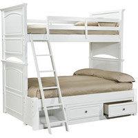 Daphne White Twin over Full Bunk Beds