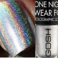 BRAND NEW 100% authentic GOSH HOLOGRAPHIC 549 Hero NAIL POLISH 8 ml.