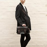Brown leather satchel shoulder bag | circavintage | ASOS Marketplace
