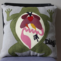 Science Diagram Pillow - Frog Dissection