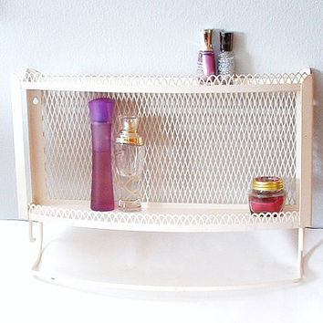 Vintage Vanity Shelf Bathroom Shelf Wire From Prettyshinythings4u
