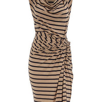 Stripe cowl neck jersey dress - Dresses  - Clothing  - Dorothy Perkins