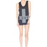Zoe Karssen Love Cross Tank top | Dolls Kill