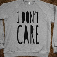 I Don&#x27;t Care (crew neck) - Galaxy Cats