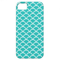 Turquoise Scallop Pattern iPhone 5 Case from Zazzle.com