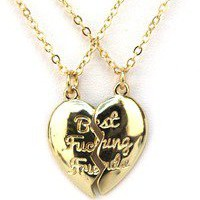 The Love of pretty  &quot;Best fucking friends&quot; necklace