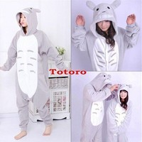 Anime Kigurumi Pajamas Cosplay Pyjamas Costume Hoodie Onesuit Dress Totoro