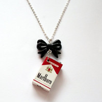 Marlboro Necklace Cigarette Packet by KitschBitchJewellery on Etsy