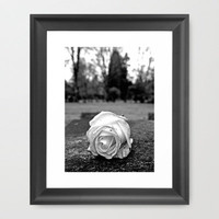 One last rose Framed Art Print by Vorona Photography | Society6