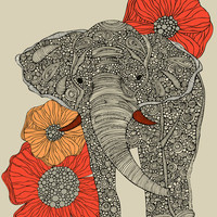 The Elephant Art Print by Valentina | Society6
