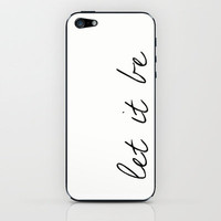 Let It Be, The Beatles iPhone &amp; iPod Skin by gabsnisen | Society6