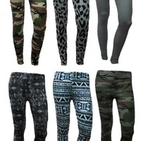 LADIES PRINTED/ARMY CAMO...