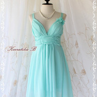 Marilyn Party - Gorgeous Light Mint Blue Cocktail Dress Prom Party Wedding Bridesmaid Cocktail Night Dancing Dress