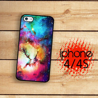iPhone 4 Case  Iphone 4S Case  /  Unicorn Nebula Outer Space Art