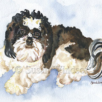 Shih Tzu Watercolor Note Card Set by SusanWindsor on Etsy