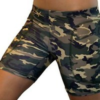 NIP Girls/Ladies Fastpitch Softball Compression Slider Shorts undergear CAMO!