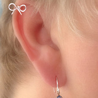 Cartilage Piercing Dainty Bow Pierced Stud