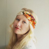 Floral Turban Headband Stretch  Twist Headband - Turban Wide Hippie Boho Headband head bands Hair Coverings