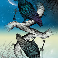 Raven's Key Night+Day Art Print by Rachel Caldwell | Society6