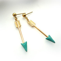 Turquoise Arrow Earrings ( A11 )