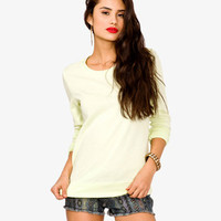 Chiffon Paneled Pullover