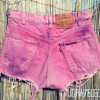 Tie Dyed Denim Shorts (MEDIUM)