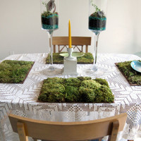 $75.00 Beautiful Woodland Moss Place Mats For Your Table by MissMossy