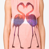 Mirrored Flamingo Muscle Tee