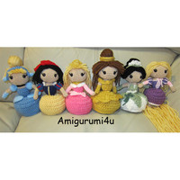 Disney Princess Handmade Amigurumi Crochet Doll by Amigurumi4u