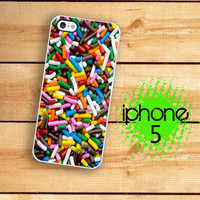 iPhone 5 Case Rainbow Candy Sprinkles  / Hard Case For iPhone 5