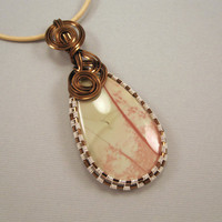 Cherry Blossoms Willow Creek Jasper Wire Wrapped by UptightWanda