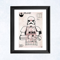 Stormtrooper shooting target art print by purplecactusdesign