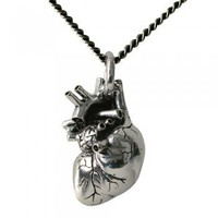 ShanaLogic.com - 100% Handmade &amp; Independent Design! Anatomical Heart Necklace - Dark Side of Fashion