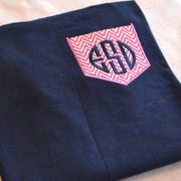 Monogrammed FABRIC pocket shirts