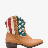 American Flag Cowboy Booties