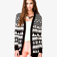Oversized Zigzag Cardigan
