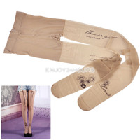 Sexy Women's Tattoo Print Transparent Pantyhose /Tights Stockings Leggings EN24H
