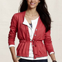Women's Tie-Waist V-neck Cardigan from Lands' End Canvas